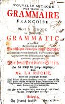Nouvelle methode pour traiter la grammaire françoise