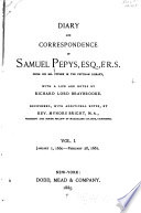 Diary And Correspondence Of Samuel Pepys From His Ms Cypher In The Pepsyian Library
