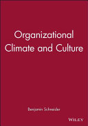 Organizational Climate and Culture
