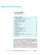 Supercondensateurs ebook