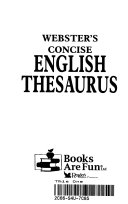 Webster's Concise English Thesaurus