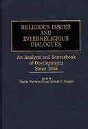 Religious Issues And Interreligious Dialogues