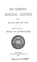 Pdf San Francisco Municipal Reports for the Fiscal Year ...