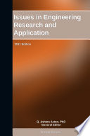 Issues in Engineering Research and Application: 2011 Edition