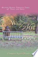 What Not to Say to Hurting People