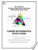 Cahsee Mathematics Study Guide