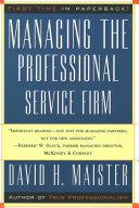 Managing The Professional Service Firm Pdf/ePub eBook