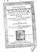 Apographum monumentorum Haidelbergensium