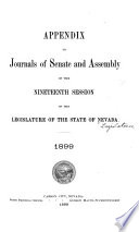 Appendix to Journals of Senate and Assembly ... of the Legislature