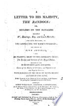 A letter to his majesty, the Bandogs: or, Remarks on the managers against W. Hastings ... and lord Melville