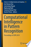 Computational Intelligence In Pattern Recognition Book PDF