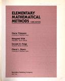 Elementary Mathematical Methods