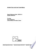 Animal Care and Use Committees