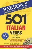 Cover of 501 Italian Verbs, 3rd Ed.