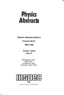 Science Abstracts: Physics abstracts