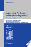 Engineering Psychology and Cognitive Ergonomics  Cognition and Design