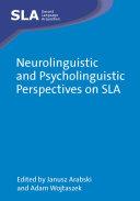 Pdf Neurolinguistic and Psycholinguistic Perspectives on SLA Telecharger