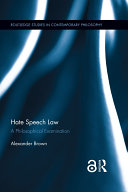 Hate Speech Law (Open Access)