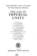 The History and Culture of the Indian People  The age of imperial unity