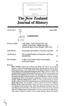 The New Zealand Journal of History