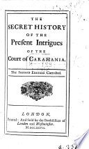 The Secret History Of The Present Intrigues Of The Court Of Caramania By Eliza Haywood Second Edition