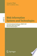 Web Information Systems and Technologies Book