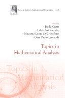 Topics In Mathematical Analysis Pdf/ePub eBook