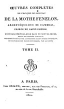 Œuvres Complètes de François de Salignac de La Mothe Fénelon