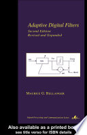 Adaptive Digital Filters Book PDF