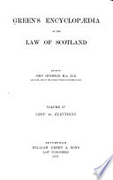 Green s Encyclopaedia of the Law of Scotland
