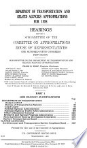 Department of Transportation and Related Agencies Appropriations for 1998