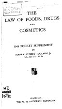 The Law of Foods  Drugs and Cosmetics Book