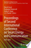 Proceedings of Second International Conference on Smart Energy and Communication