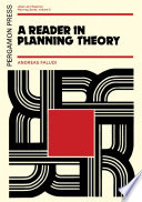 A Reader In Planning Theory PDF