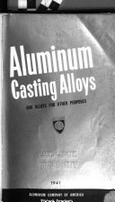 Aluminum Casting Alloys and Alloys for Other Purposes