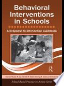 Behavioral Interventions in Schools