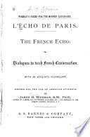 L'echo de Paris: The French echo