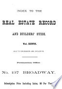Real Estate Record and Builder s Guide