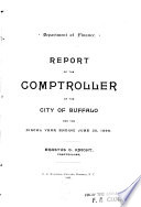 Report of the Division of Accounting of the City of Buffalo