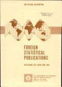 Foreign Statistical Publications