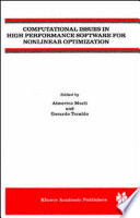 Computational Issues in High Performance Software for Nonlinear Optimization Book
