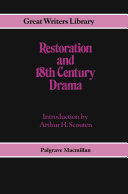 Pdf Restoration and 18th-Century Drama Telecharger