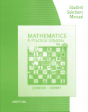 Student Solutions Manual for Johnson Mowry s Mathematics  A Practical Odyssey  8th