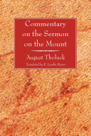 Commentary on the Sermon on the Mount Pdf/ePub eBook
