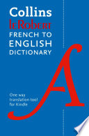 Collins Robert Concise French to English (One Way) Dictionary