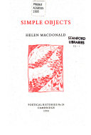 Simple Objects Book