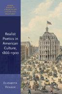 Realist Poetics in American Culture  1866 1900