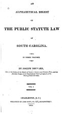An Alphabetical Digest of the Public Statute Law of South-Carolina ebook