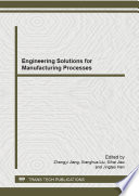 Engineering Solutions for Manufacturing Processes Book