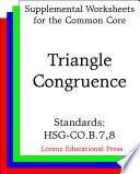 CCSS HSG CO B 7  8 Triangle Congruence